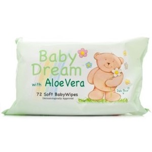 Baby Dream Wipes Aloe Vera 72stk