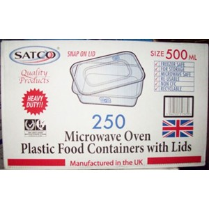 Satco Food Container & Lids 250stk x 500ml