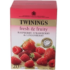 Twinings Rasberry, Strawberry & Loganberry Tea 20 Bags