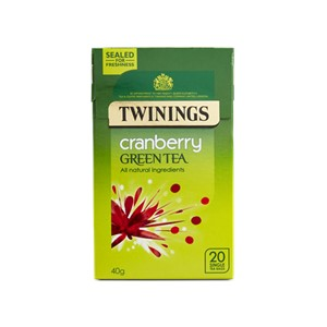 Twinings Green Tea Cranberry 20 Bags