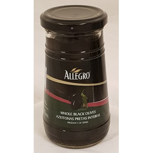 Allegro Black Olives Plain 260g