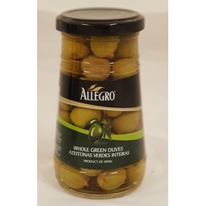 Allegro Green Olives Plain 260g