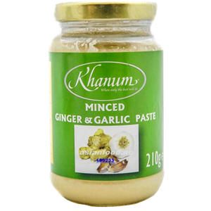 Khanum Minced Ginger & Garlic Paste 210g