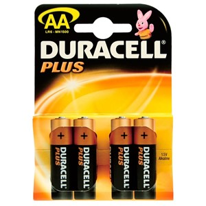 Duracell AA Plus Power Battery 4x20