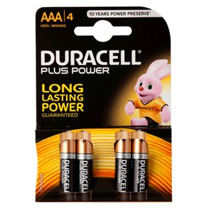 Duracell AAA Plus Power Battery 4x10
