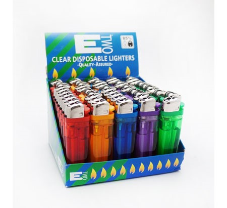 ETwo Lighter Clear Refillable 50stk