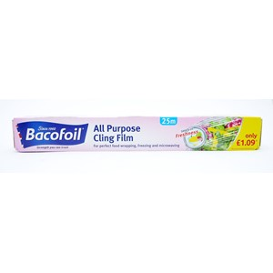 Bacofoil Cling Film All Purpose 300mmx25M