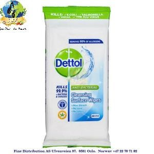 Dettol Antibacterial Wipes Cleaning Surface 20stk