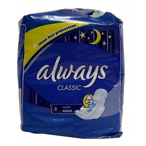 Always Classic Night 8stk Core+Sanitary Pads