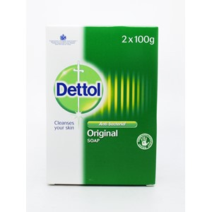 Dettol Soap Twin Pack Original 100ml