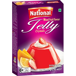 National Jelly Crystal Mix Fruit 80g