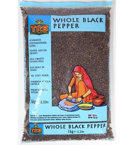 TRS Black Pepper Whole 1kg