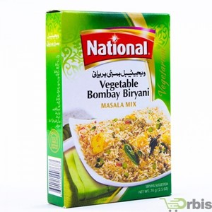 National Vegetable Bombay Biryani 70g