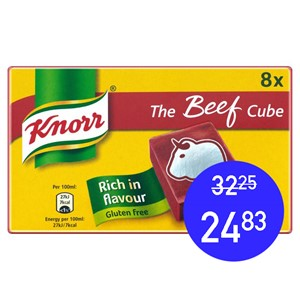 Knorr Beef Cubes 8g x 52stk (400g)