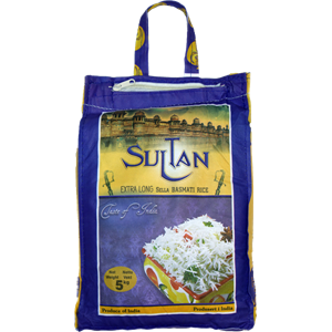 Sultan Basmati Rice Extra Long Sella 20kg