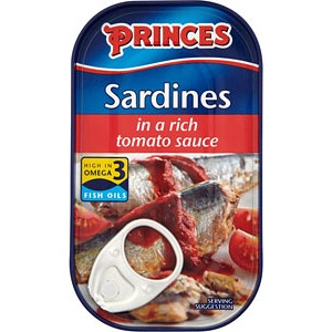 Princes Sardines in Rich Tomato Sauce 120g