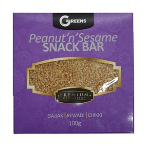 Greens Peanut Sesame Bar 100g