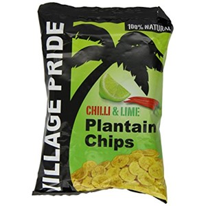Village Pride Plantain Chips Chilli & Lime 75g
