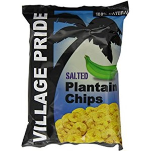 Village Pride Salted Plantain Chips 75g