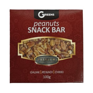 Greens Peanut Snack Bar 100g