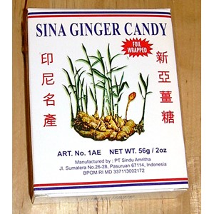 Sina Ginger Candy Peppermint 56g