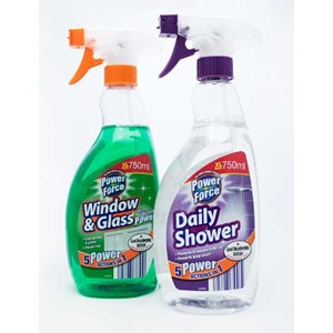 Power Force Shower+Window & Glass Spray 750ml
